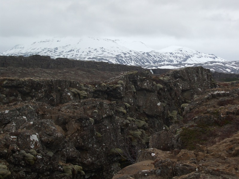 Iceland Fault line in the National ParkThingvellir - Great Atlantic Rift