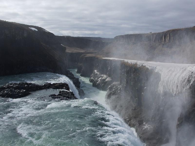 Iceland Gullfloss waterfall