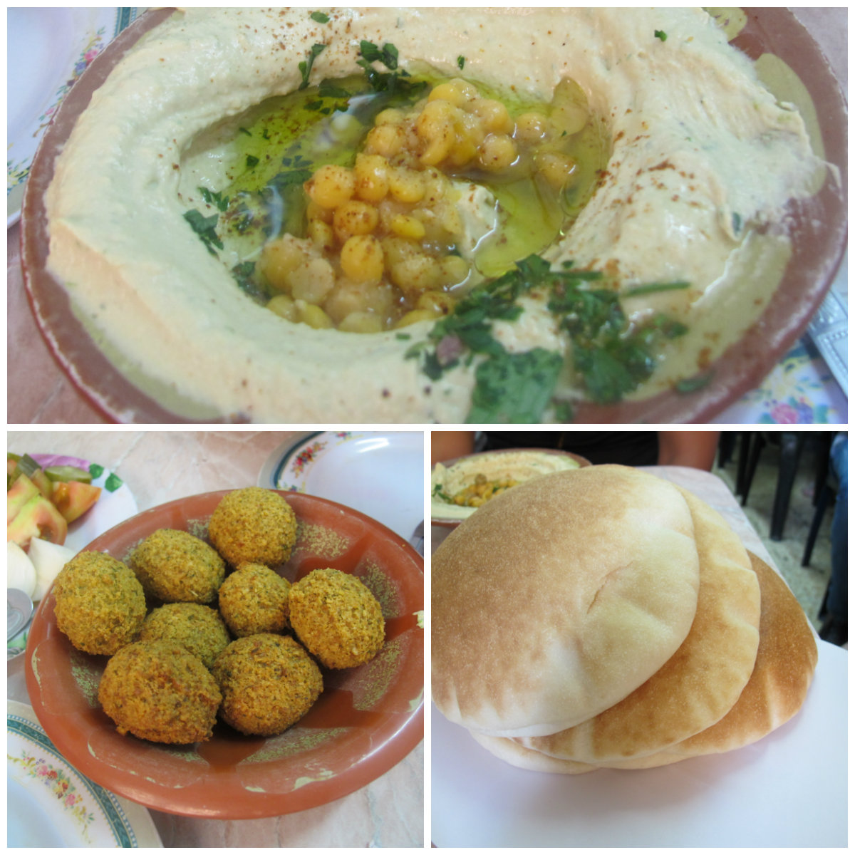 Falafel and Humus in Israel Palestine