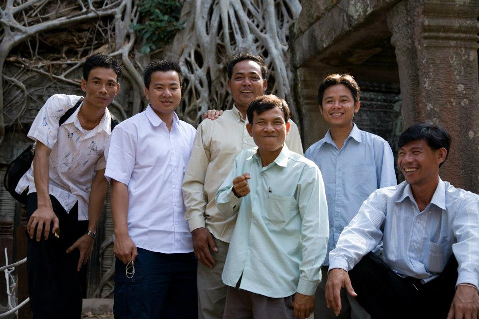 "The ""Cambodian posse"" of the Departures' team (Photo credit: Scott Wilson)"