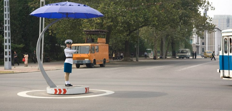 Traffic lights in North Korea by Scott Wilson