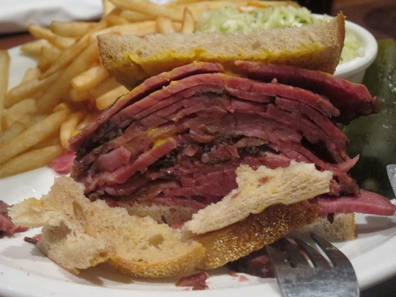 Montreal Smoked Meat at Reuben's Deli Montreal