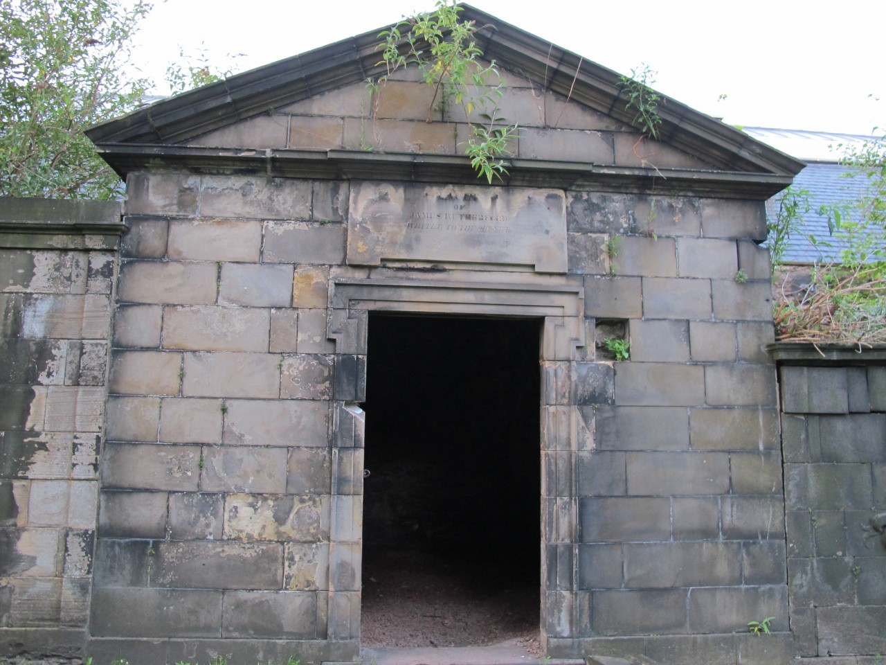 Tomb in Covenanters' Prison where many of the attacks have taken place