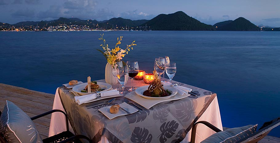 Sandals St. Lucia food