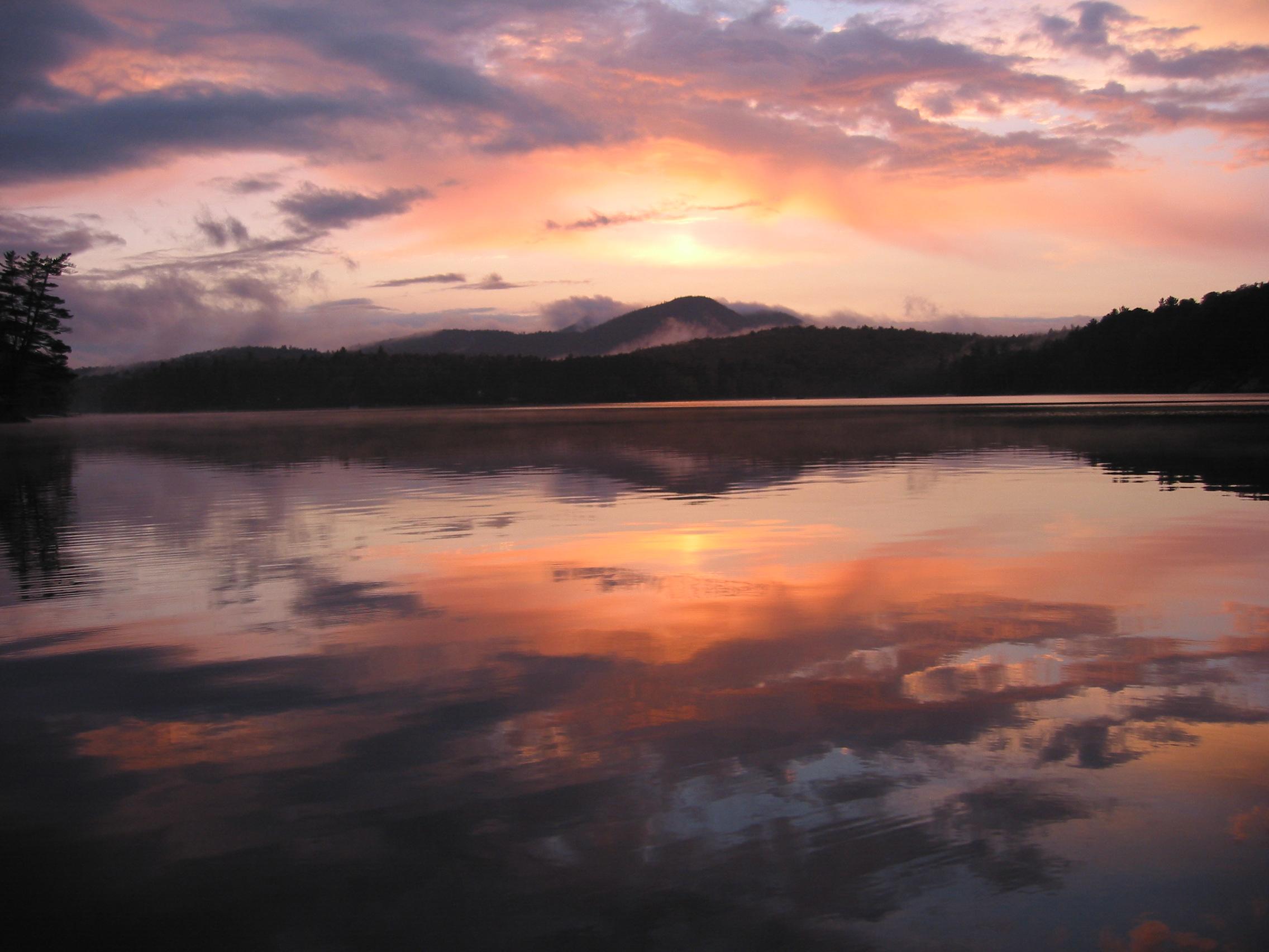 An Adirondack sunset