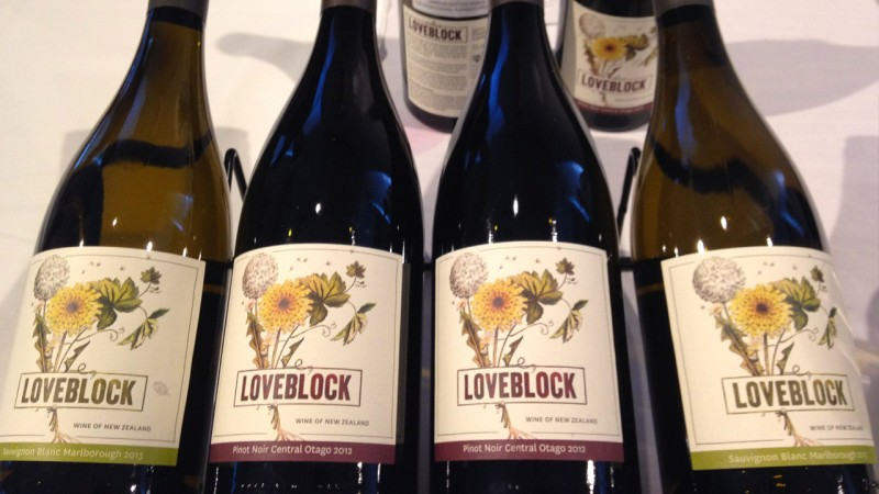Loveblock wine from New Zealand