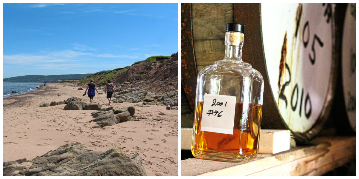 Inverness beach and whiskey in Nova Scotia