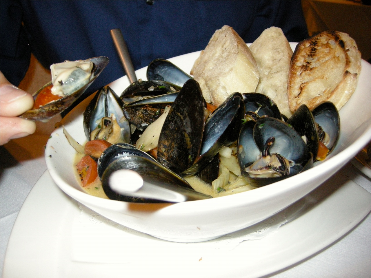 Mussels at Victor's Patio in Florence, South Carolina