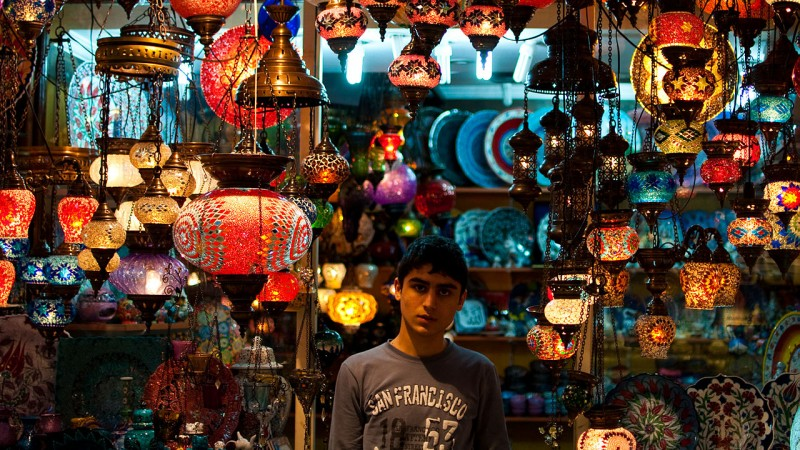Lanterns in the Grand Bazaar Istanbul