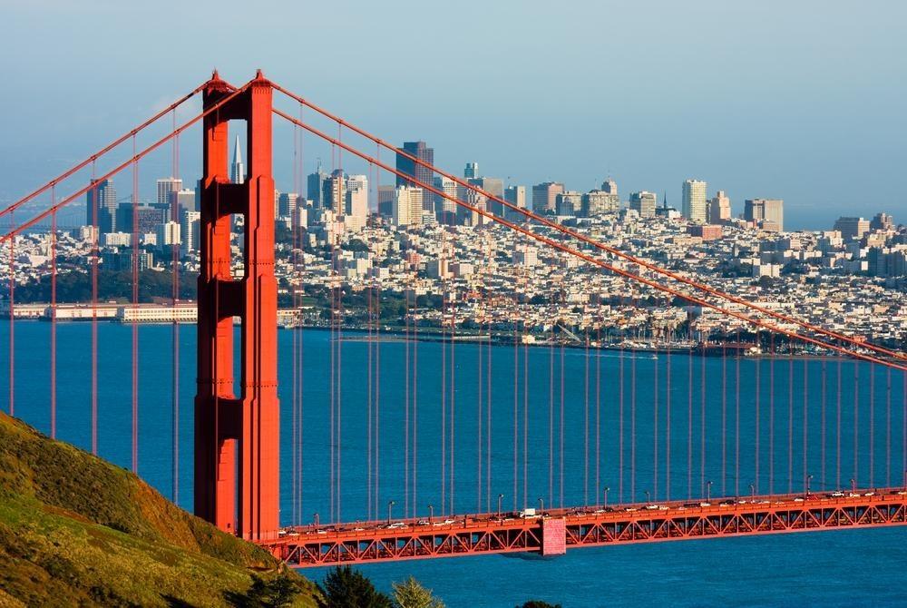 San Francisco Bridge and City Skyline