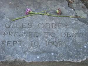 Giles Corey Memorial Salem Witch Trials