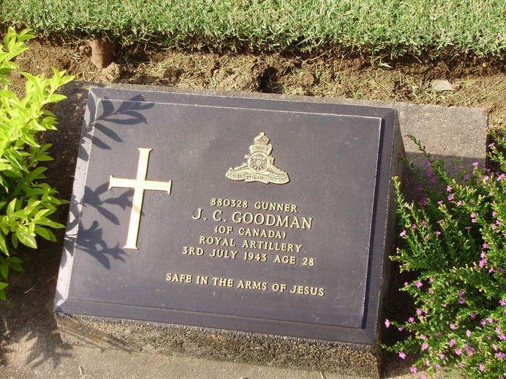 Canadian grave at Kanchanaburi