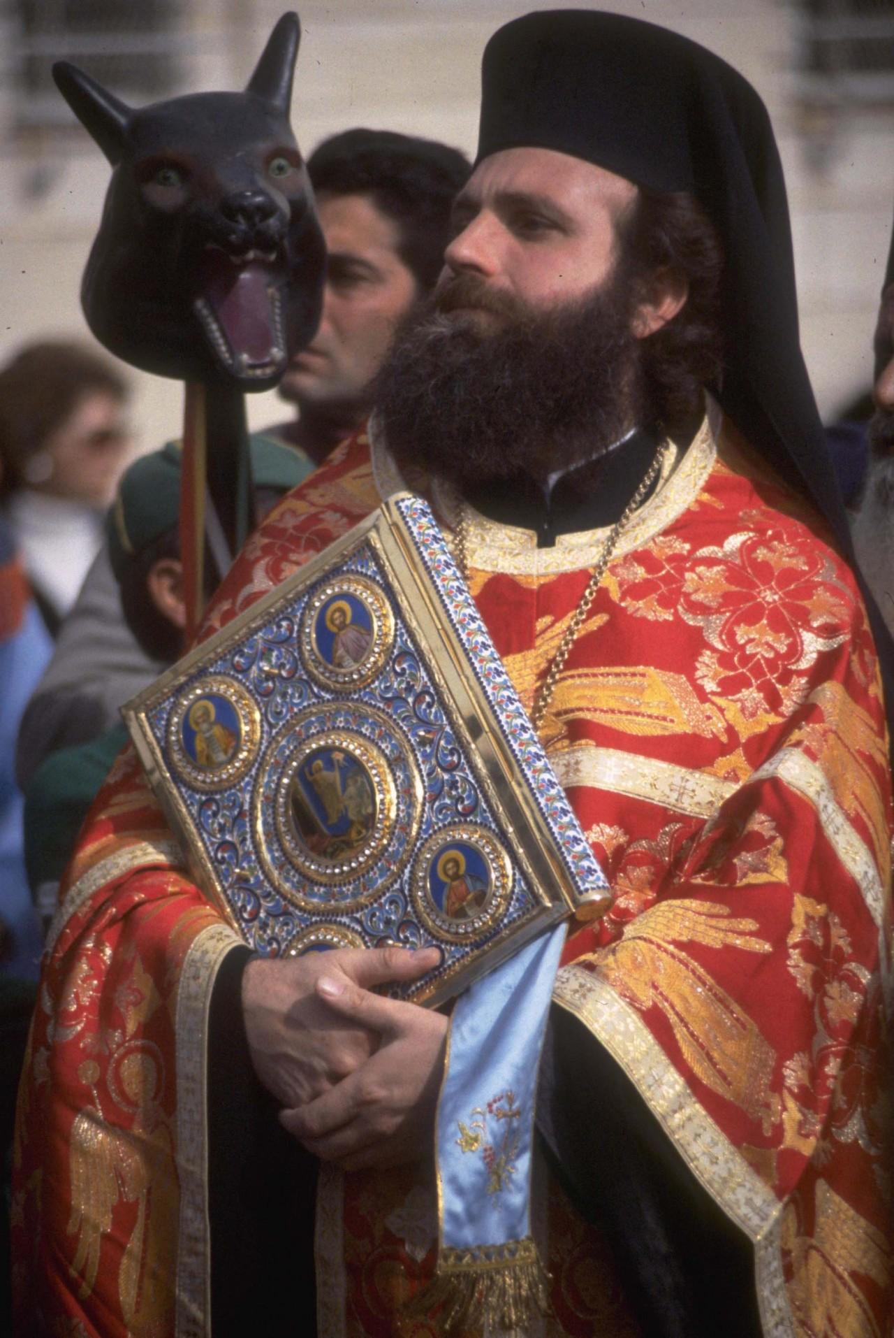 Greek Orthodox priest in Bethlehem