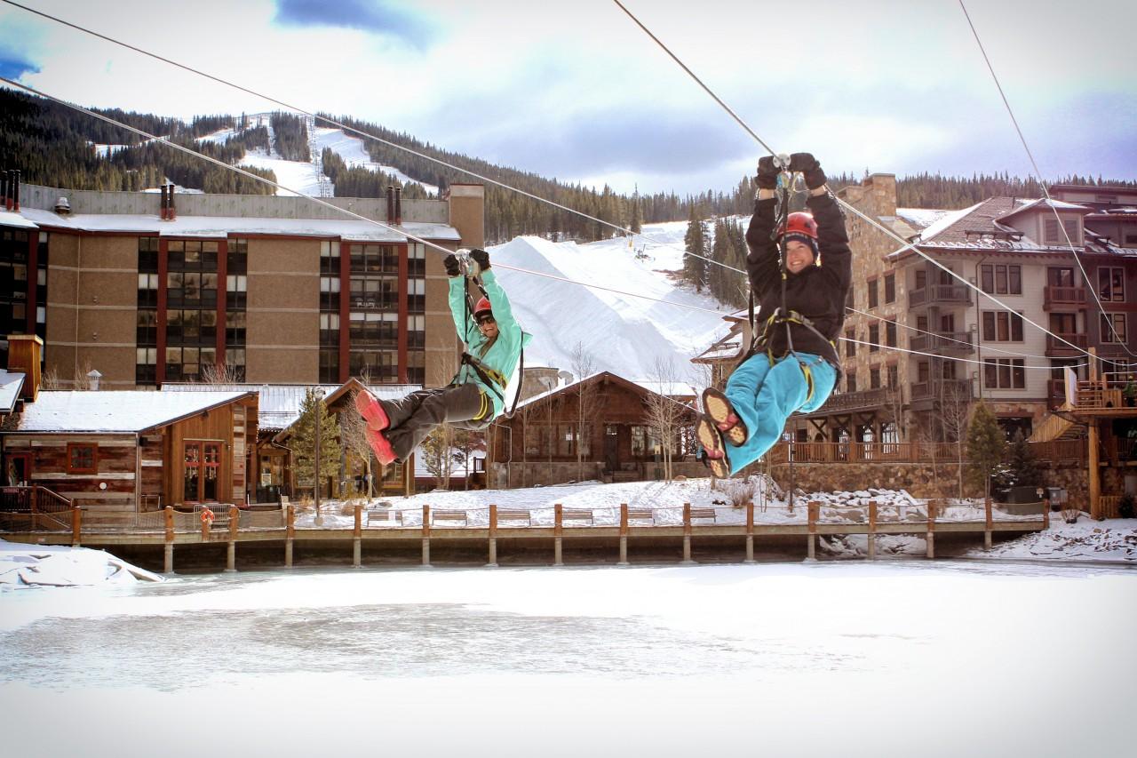 Ziplining in Copper Mountain