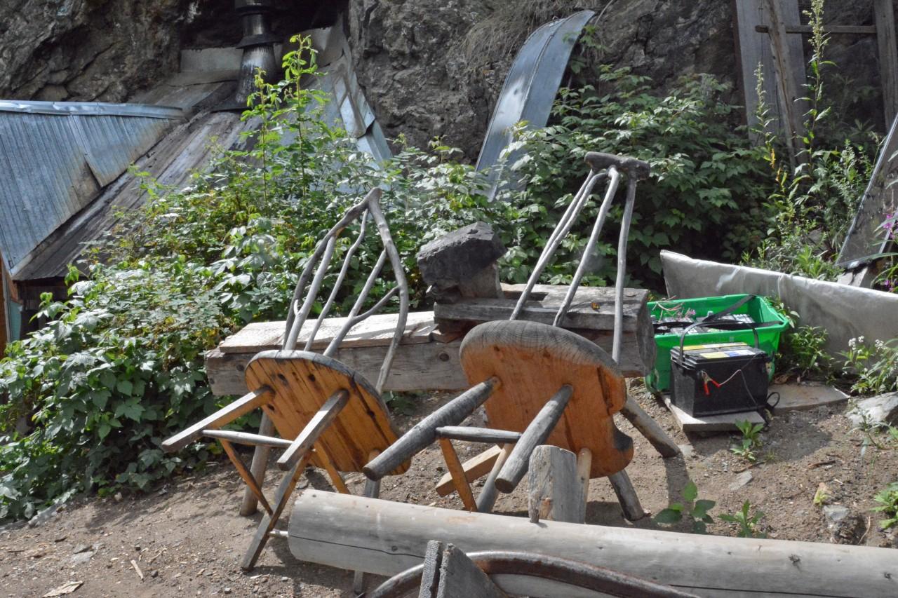 Caveman Bill Donaldson woodworking