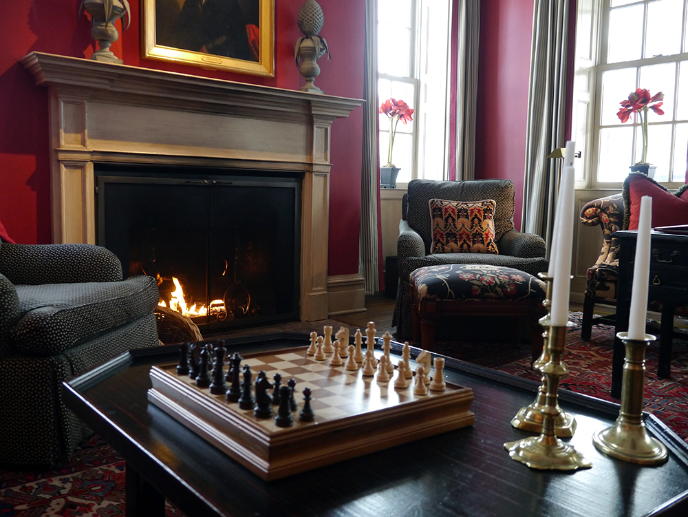 Relax by the fire in sumptuous surrounds at the inn in the winter months. Credit: Nicola Brown
