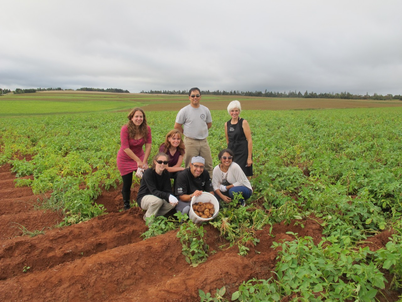 Bucket List Item #102: Learn to pick & cook potatoes at Annie's Table Cooking School in Prince Edward Island