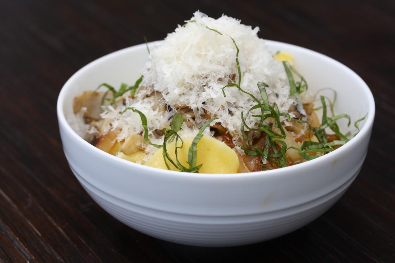Porcini Linguine with Parmigiano Reggiano by Justin Marx