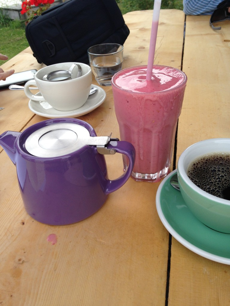 Coffee and a Smoothie at Alchemy Cafe, Dawson City