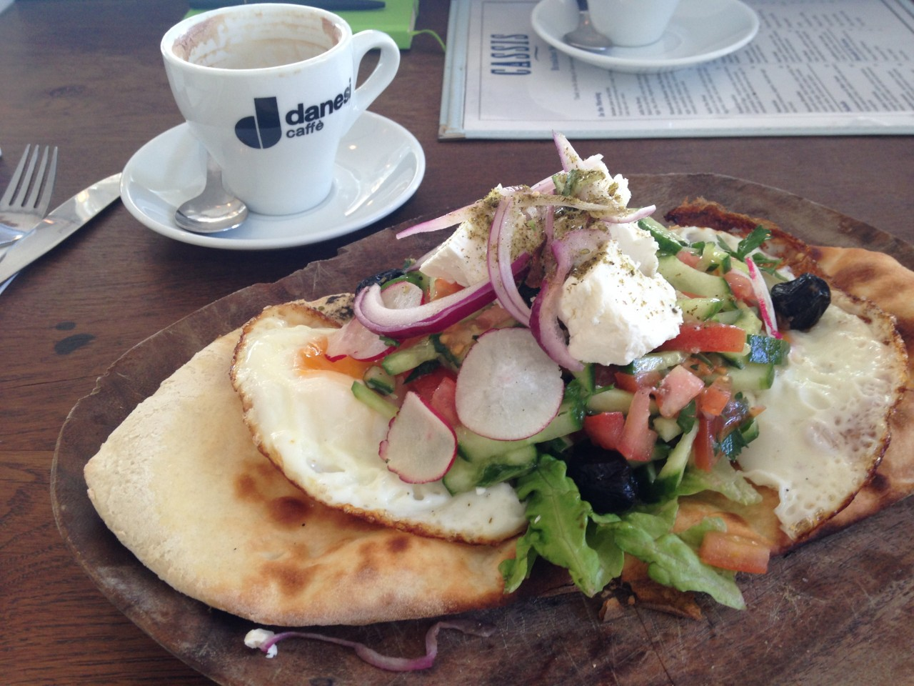 Breakfast at Cassis, Jaffa (Tel Aviv)