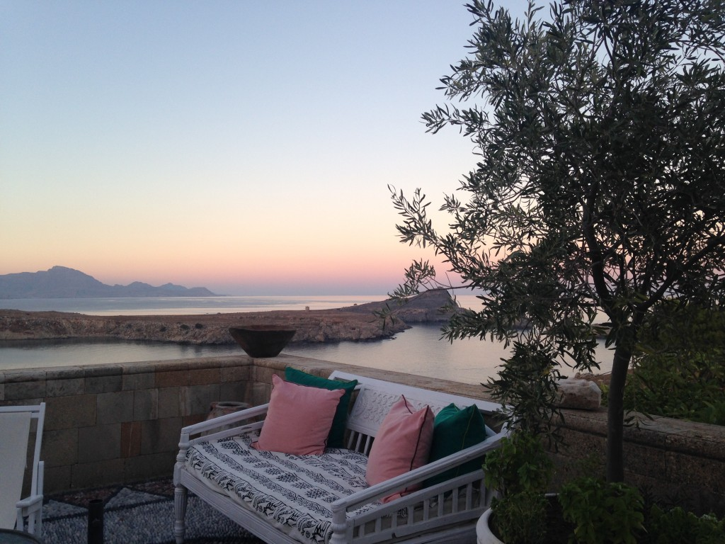 Sunset on the Private Terrace