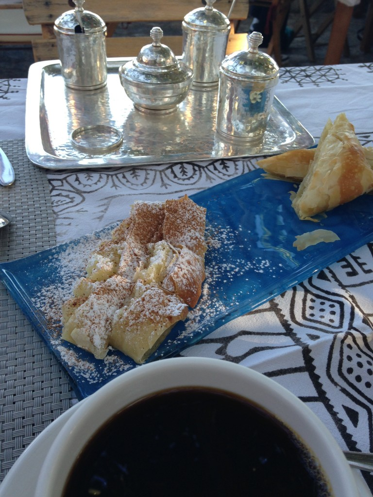 Pastries and Jams Served Hand Hammered Silver