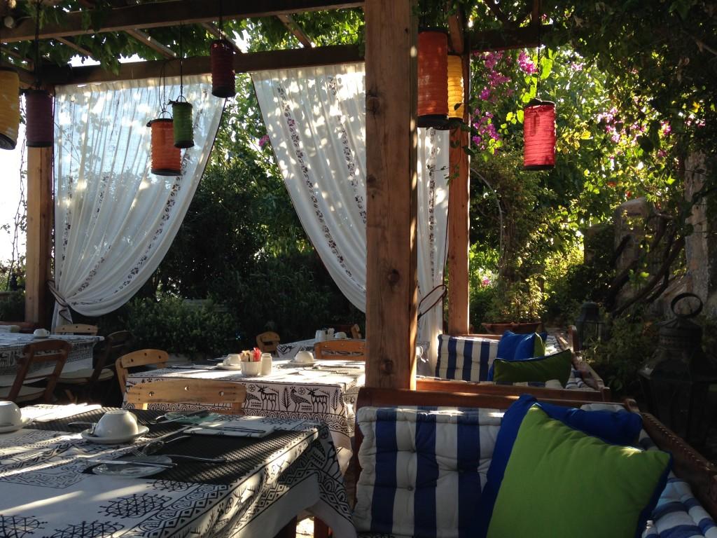Open Air Breakfast Restaurant, Melenos Boutique Hotel, Lindos