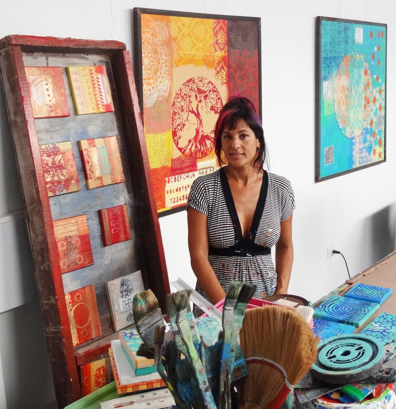Artist Elisa Lejeuz