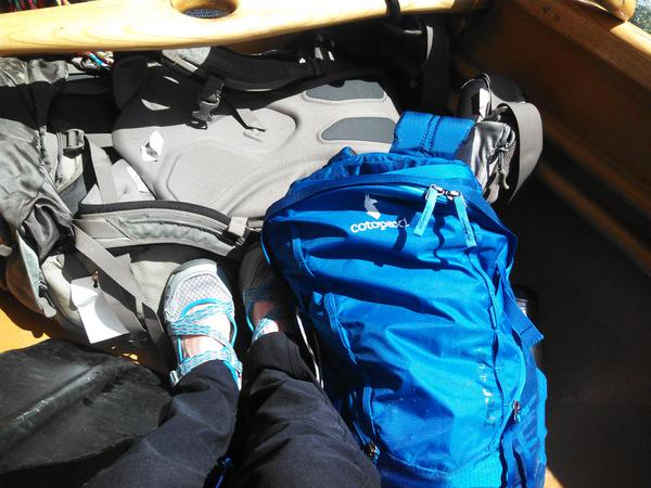 Shoes and pack