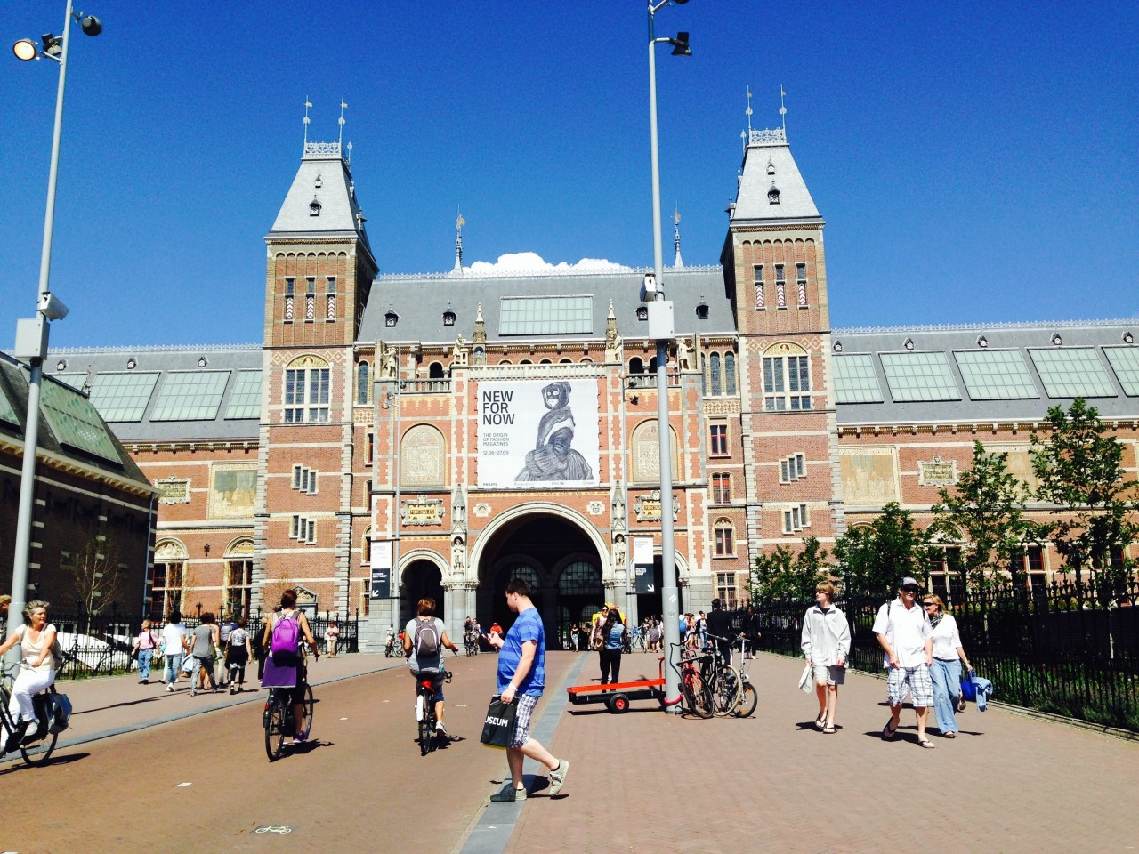 The entrance to the Rijksmuseum in Museum Square