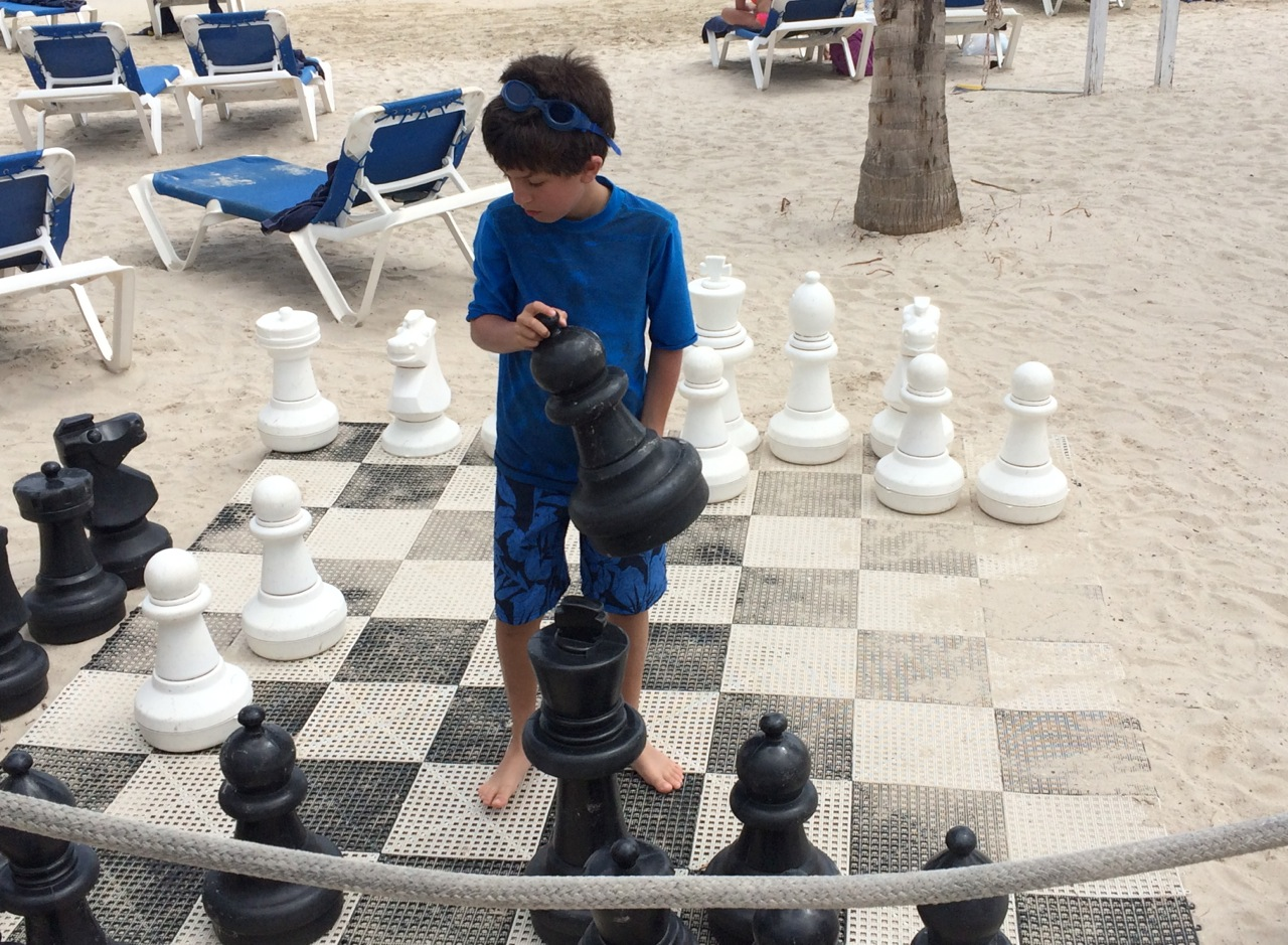 7 life size chess