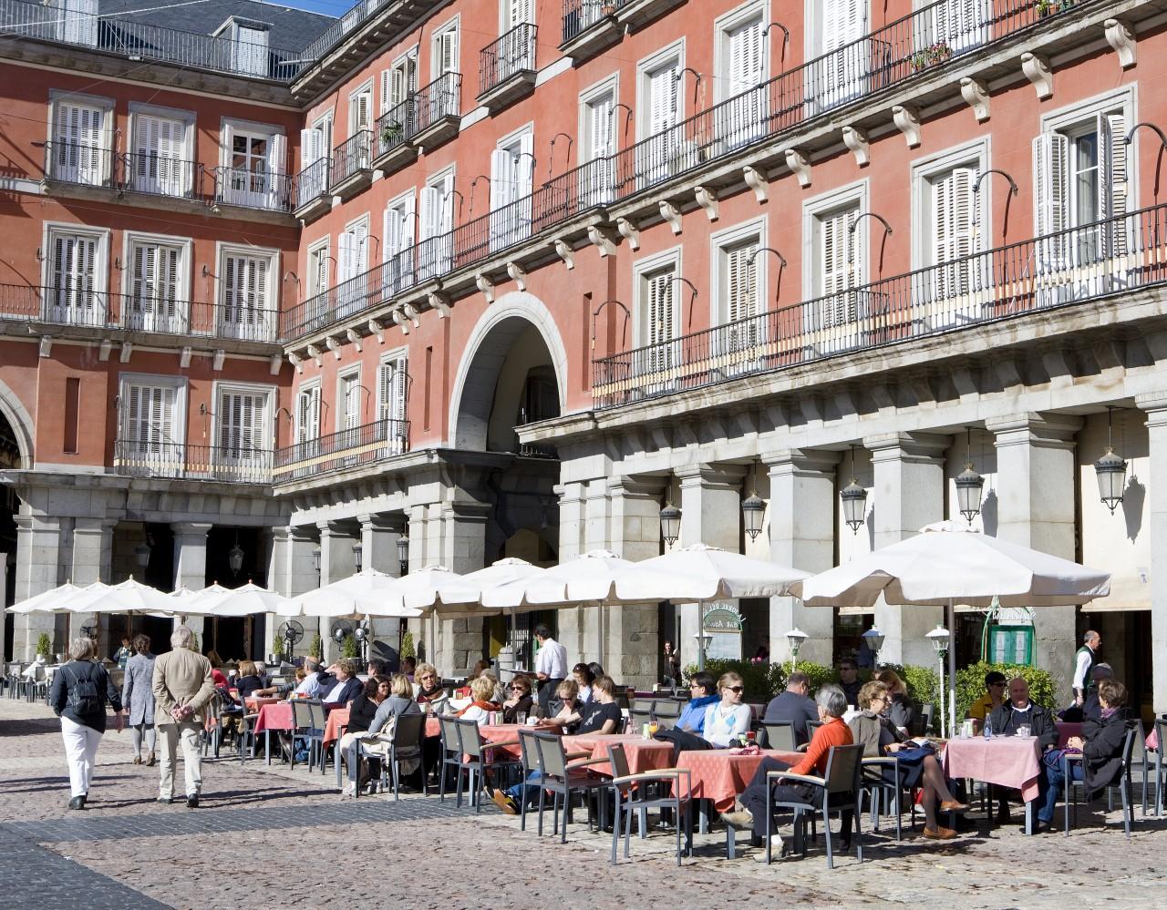 Terrazas de la Plaza Mayor de Madrid