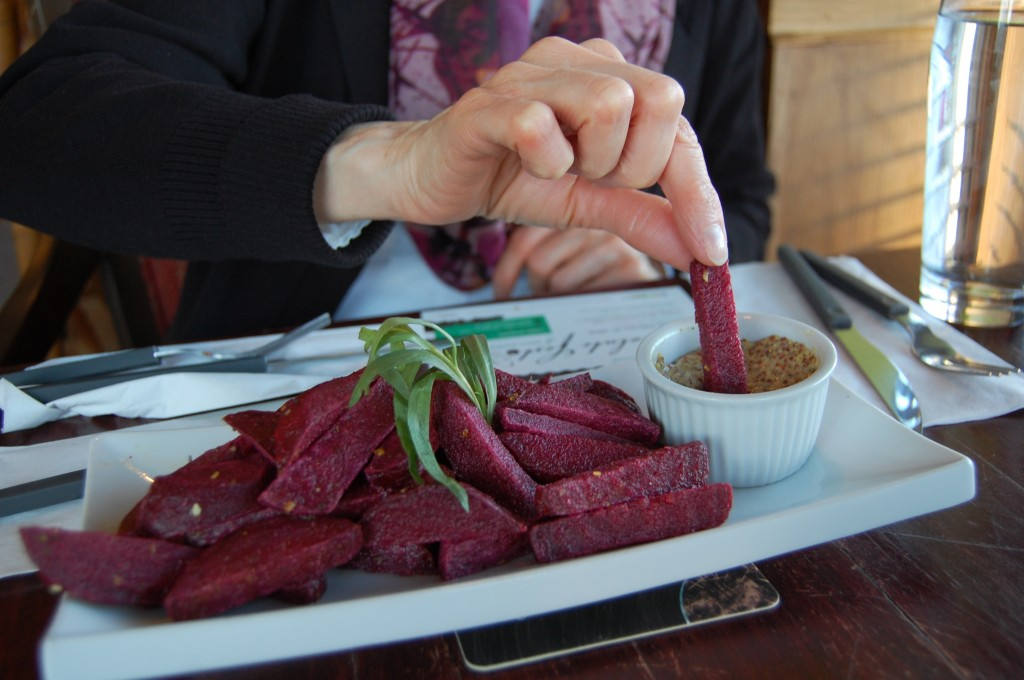 Beet Chips at The Butcher & the Vegan