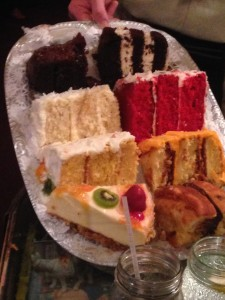 Cakes and Pie Options at The Bubble Room
