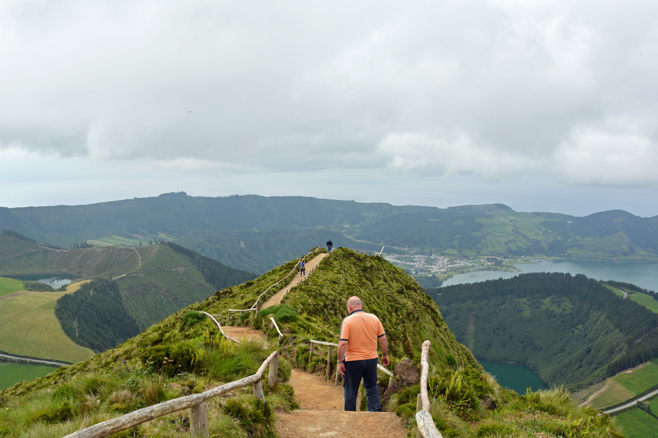 Hiking on Sao Miguel Island
