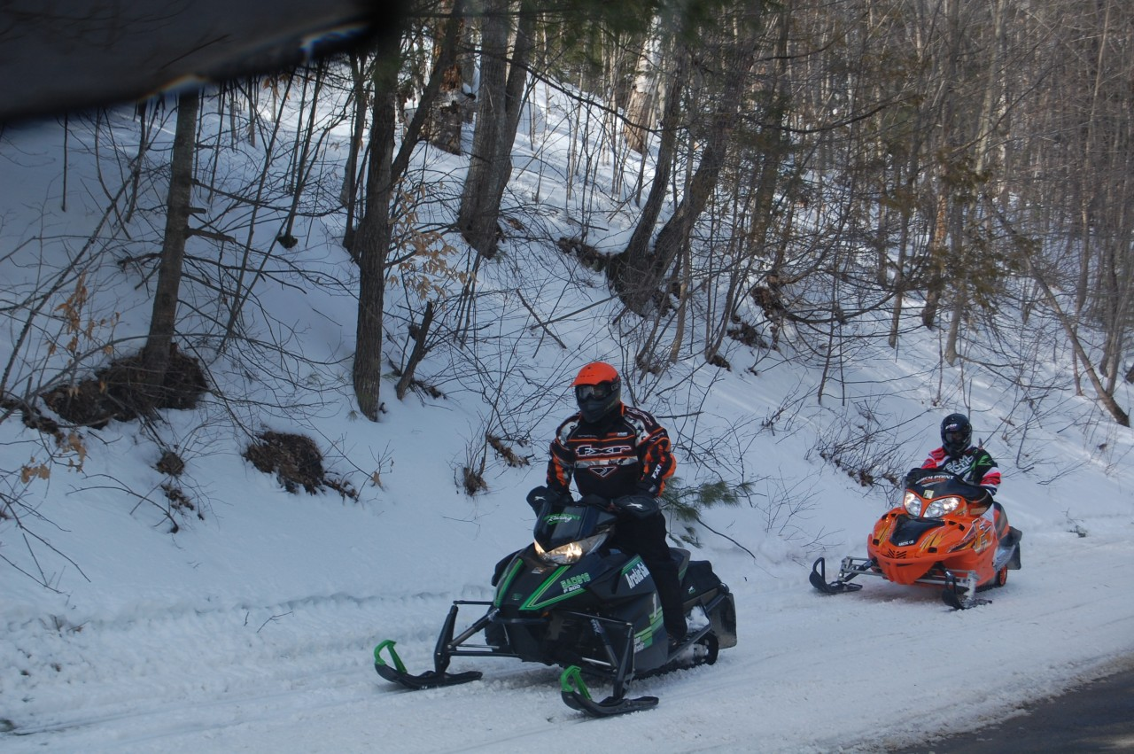8. Snowmobiling Ontario highlands winter