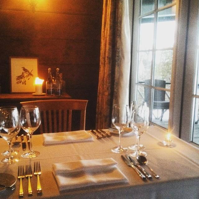 Inn at Mount Julian table