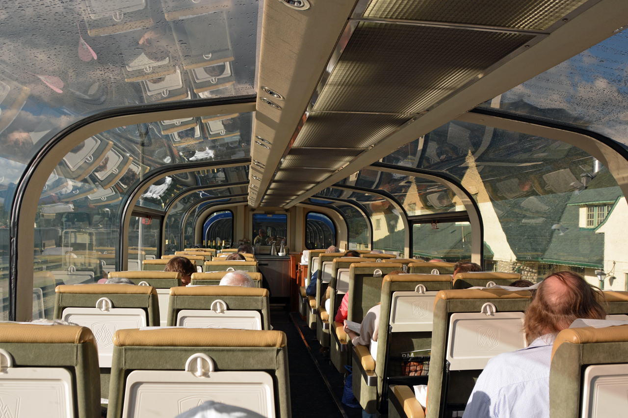 In Gold Leaf class, passengers get stellar views with the glass domed coach