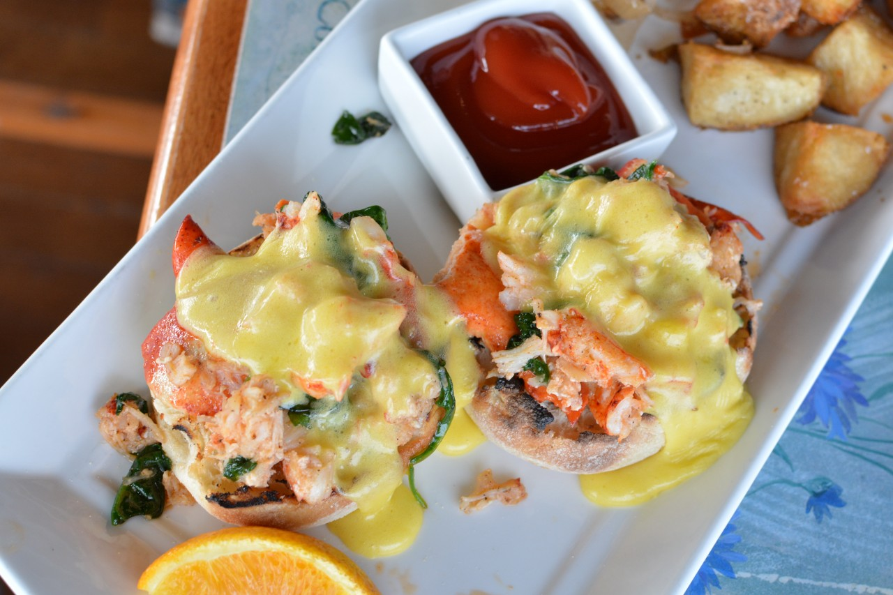 Lobster Benedict Pictou Lodge