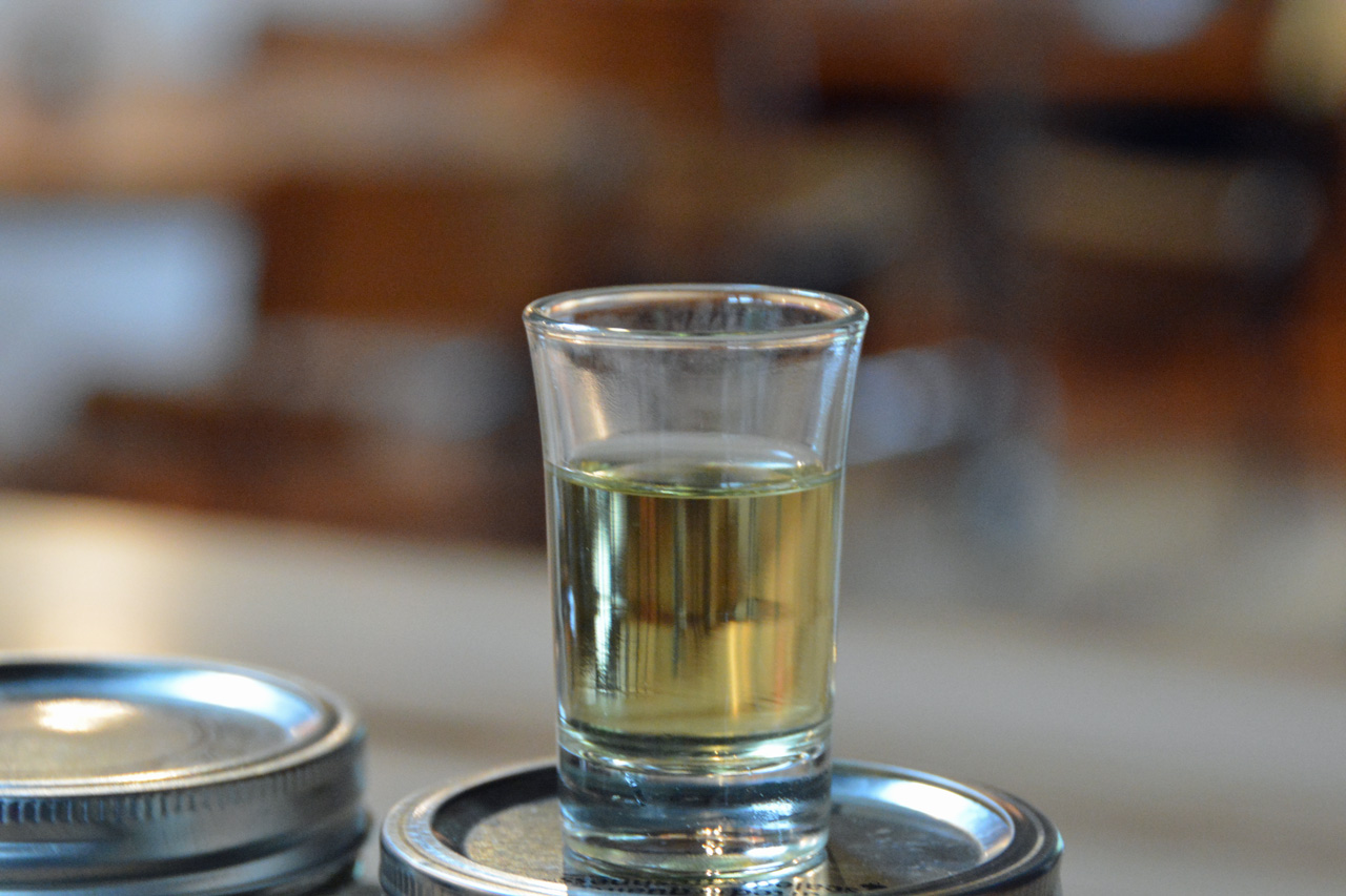 Wild Tea Shots at the Barn Co-op