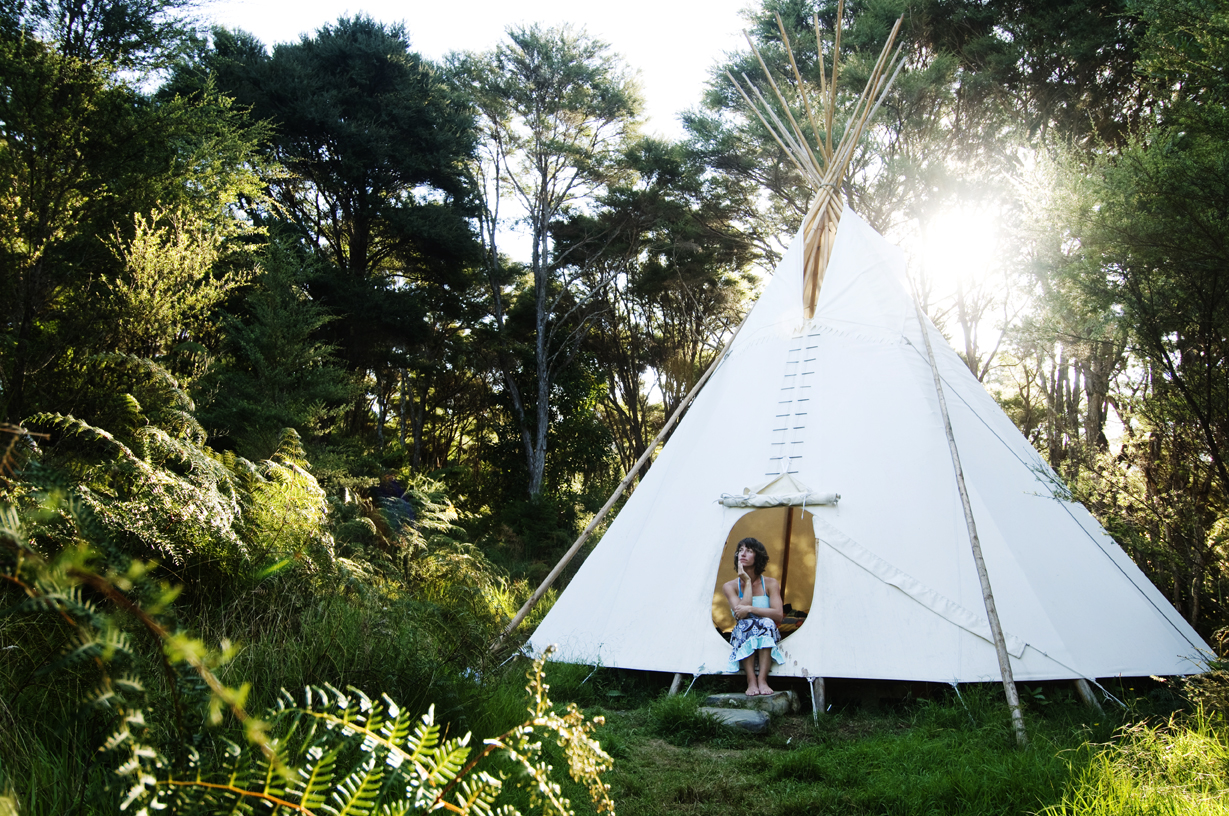 Photo: Solscape's tipis (Courtesy of Solscape)