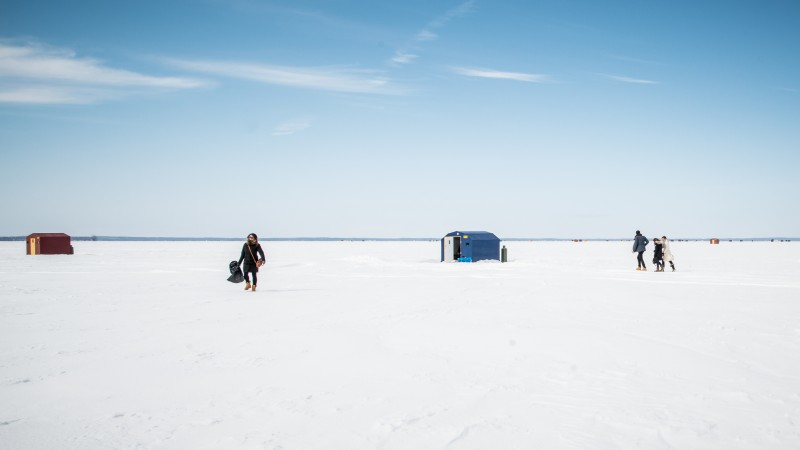 Ontario ice fishing