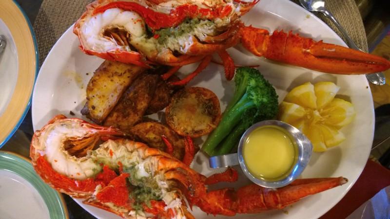 Lobster dinner in Nova Scotia