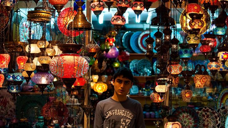 Lanterns in the Grand Bazaar Istanbul