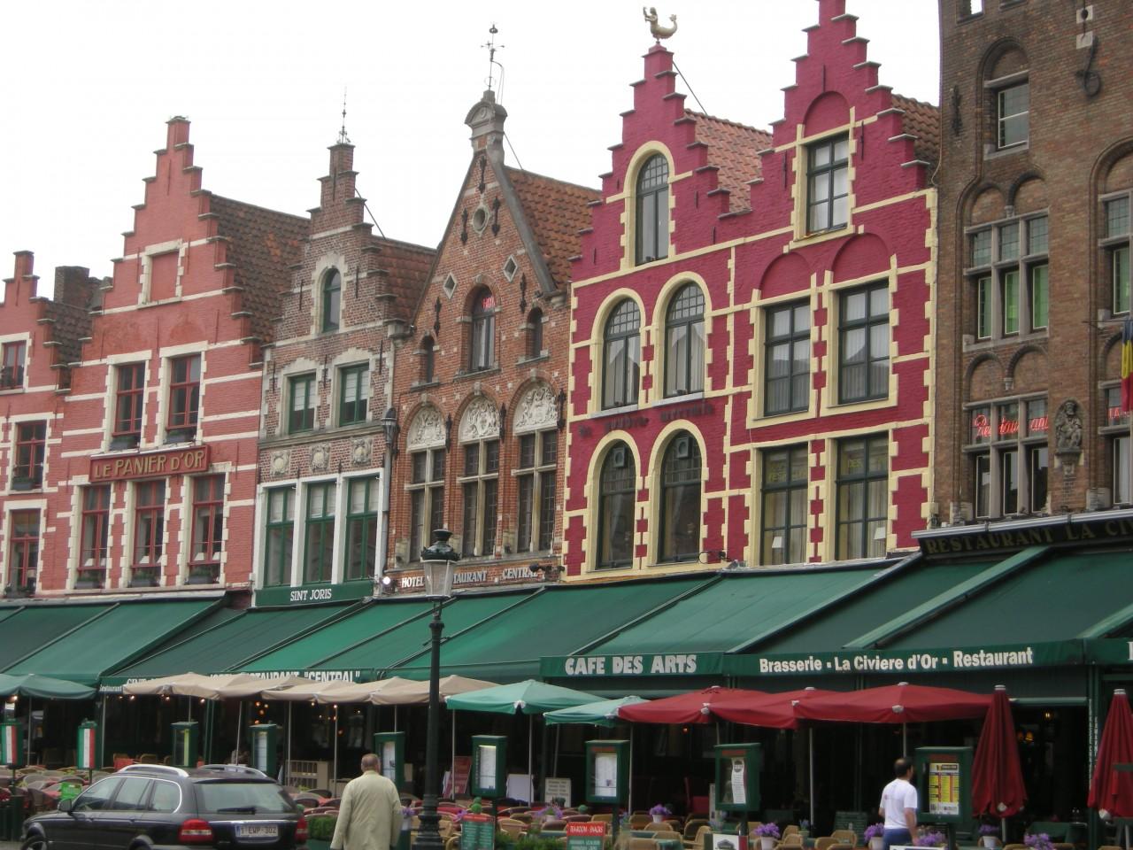 Sidewalk Cafes Bruges Belgium