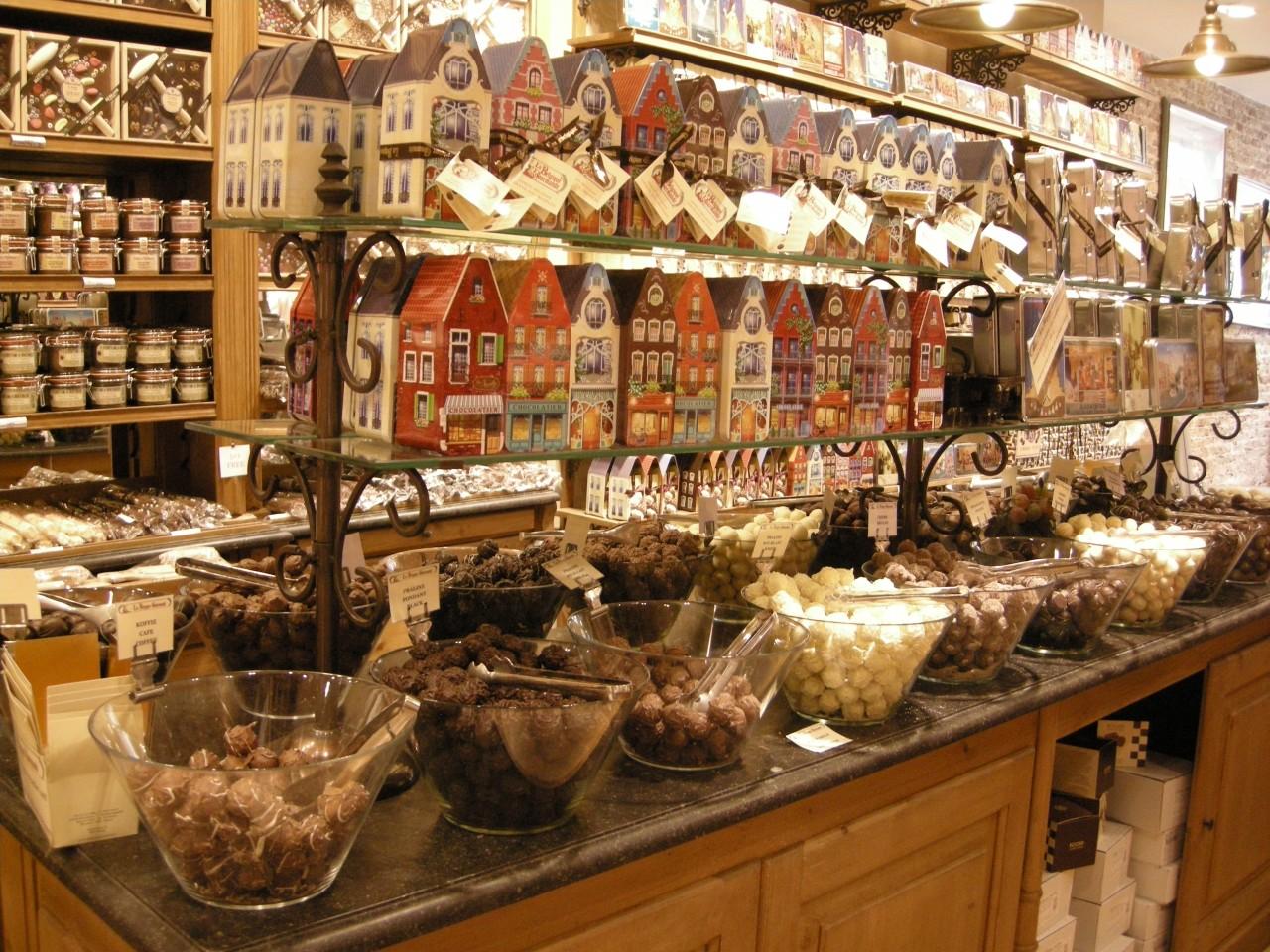 Chocolate shop Bruges Belgium