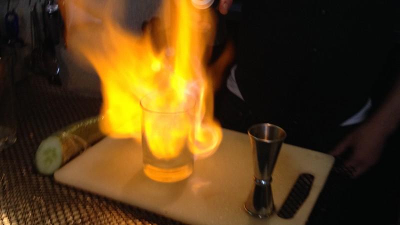 Absinthe Fire cocktail in Banff Alberta