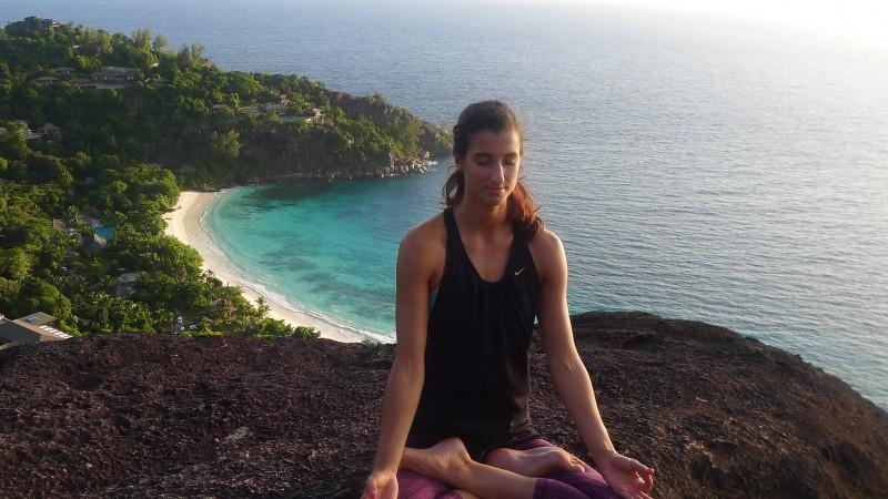 Seychelles yoga island off the coast of Africa