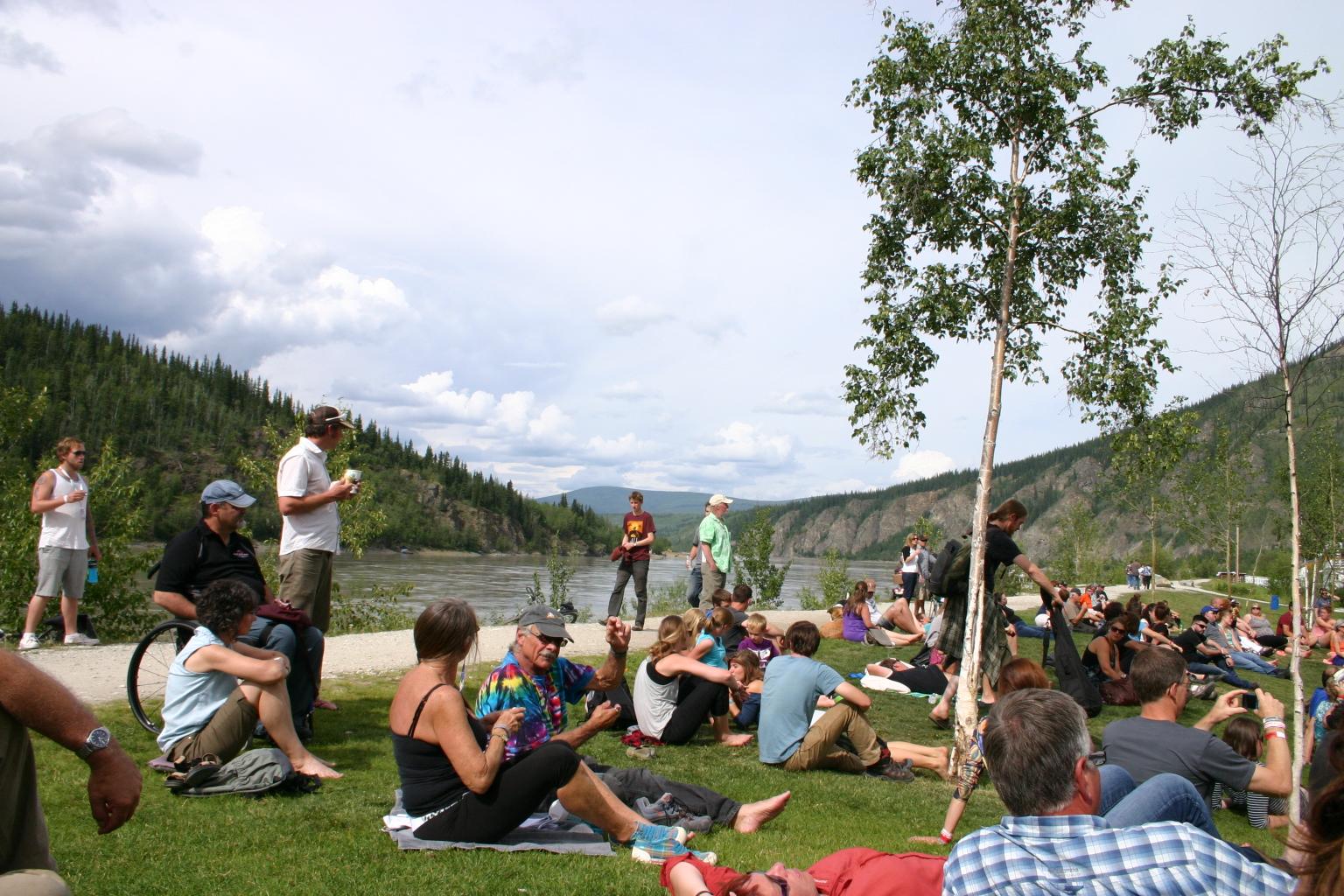 Gazebo Stage along the Yukon River