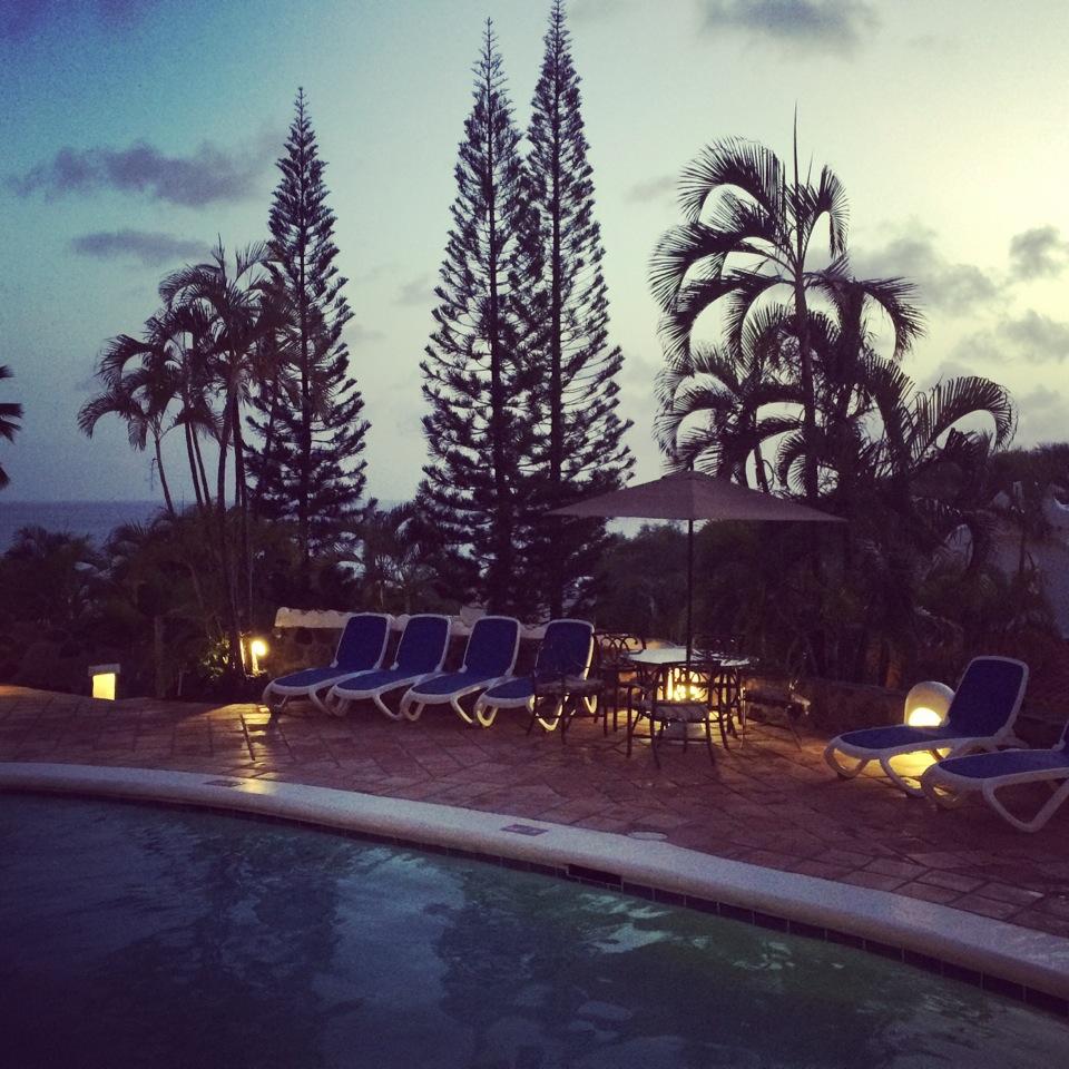 5 pool at night